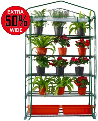 Worth Extra Wide 5 Tier Mini Greenhouse