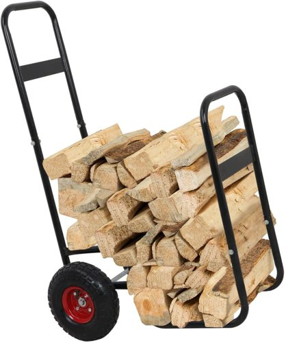 ZENY Firewood Fireplace Log Rack Cart Carrier