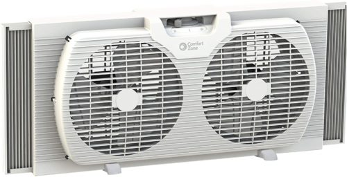 Comfort Zone 9-inch CZ319WT Twin Window Fan
