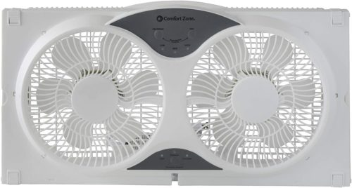 Comfort Zone CZ310R Reversible Twin Window Fan