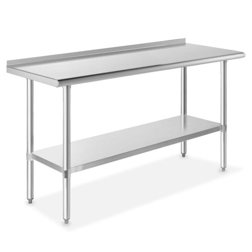 "GRIDMANN NSF Stainless Steel Commercial Kitchen Prep 7 Work Table with Backsplash 60""x24"""