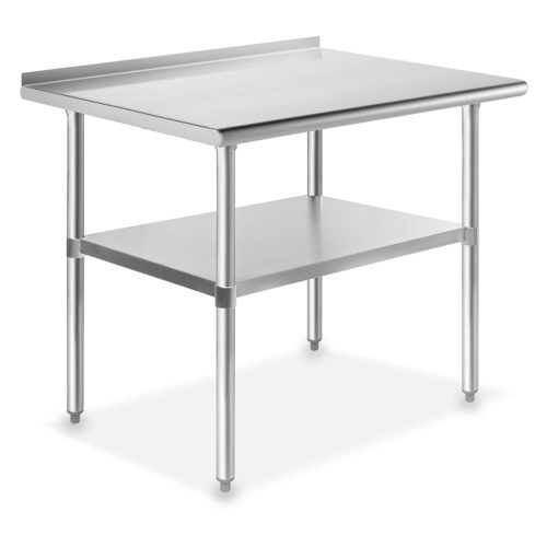 "GRIDMANN NSF Stainless Steel Commercial Kitchen Prep & Work Table 36""x24"" with Backlash"