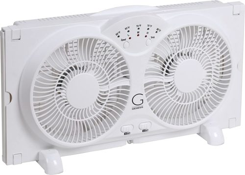 Genesis High-Velocity Twin Window Fan