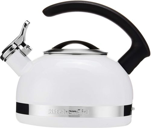 KitchenAid KTEN20CBWH 2.0-Quart Kettle with C Handle and Trim Band