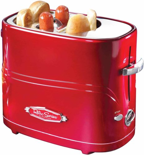 Nostalgia HDT600RETRORED Pop-Up Hot Dog and Bun Toaster