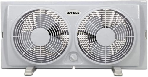 Optimus 2-Speed F-5280 Twin Window Fan