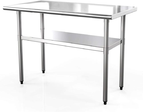 "SUNCOO NSF Stainless Steel Table 48""x24"""
