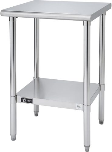 "Trinity EcoStorage NSF Stainless Steel Table 24""x24"""