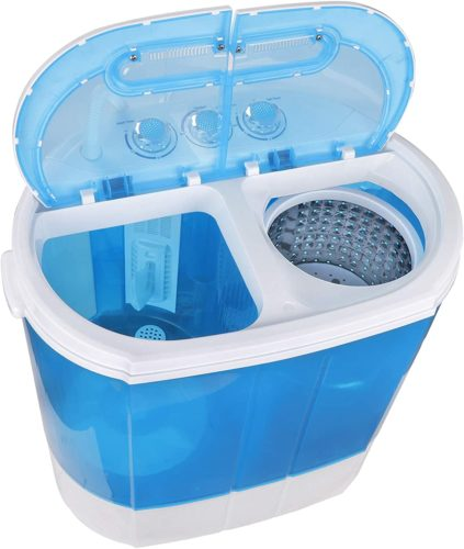 ZenStyle Compact Design Mini Twin Tub Top Load Washing Machine