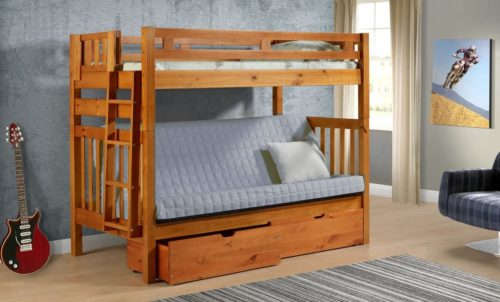 DONCO Twin over Futon Bunk Bed