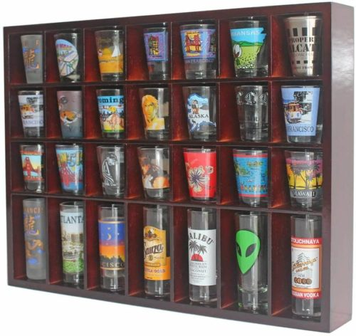 Display Gifts 28 Shot Glass Display Case