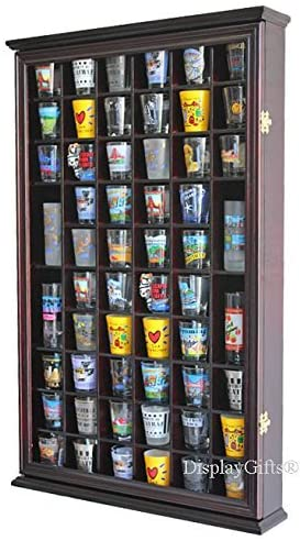 Display Gifts 56 Shot Glass Display Case