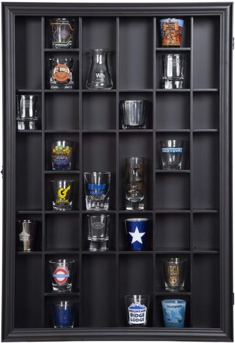 Gallery Solutions 18x16 Shot Glass Display Case