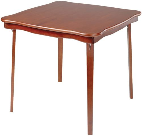 Meco Stakmore Scalloped Edge Card Table